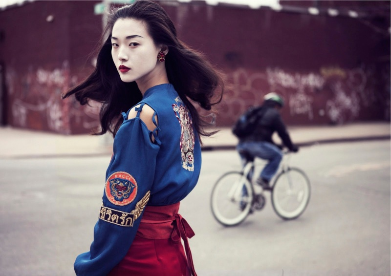 Tian Yi By Oliver Stalmans For Elle Vietnam May 2013