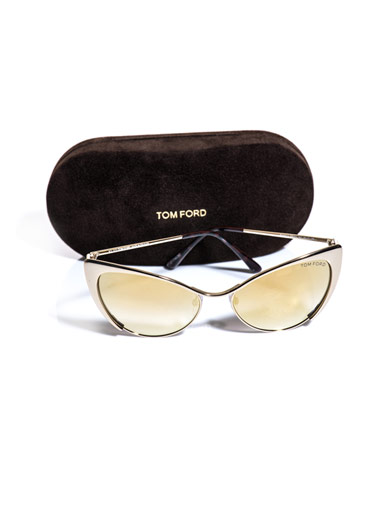 TOM FORD SUNGLASSES Cat-eye flash gold sunglasses