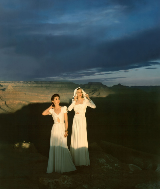 Vogue goes to the Grand Canyon, circa 1941.