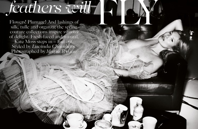 Vogue UK : Feathers Will Fly
