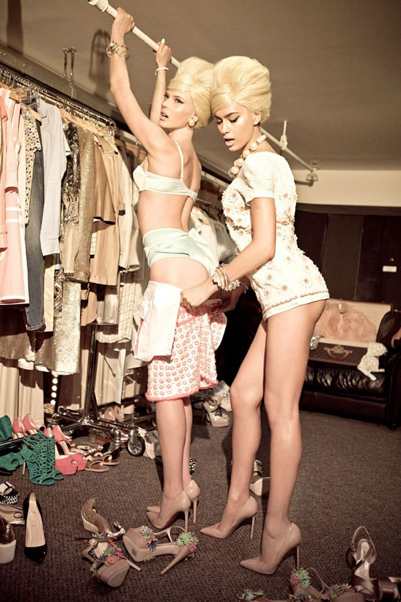 Anne Vyalitsyna & Irina Shayk by Ellen von Unwerth for Vs. Spring 2013
