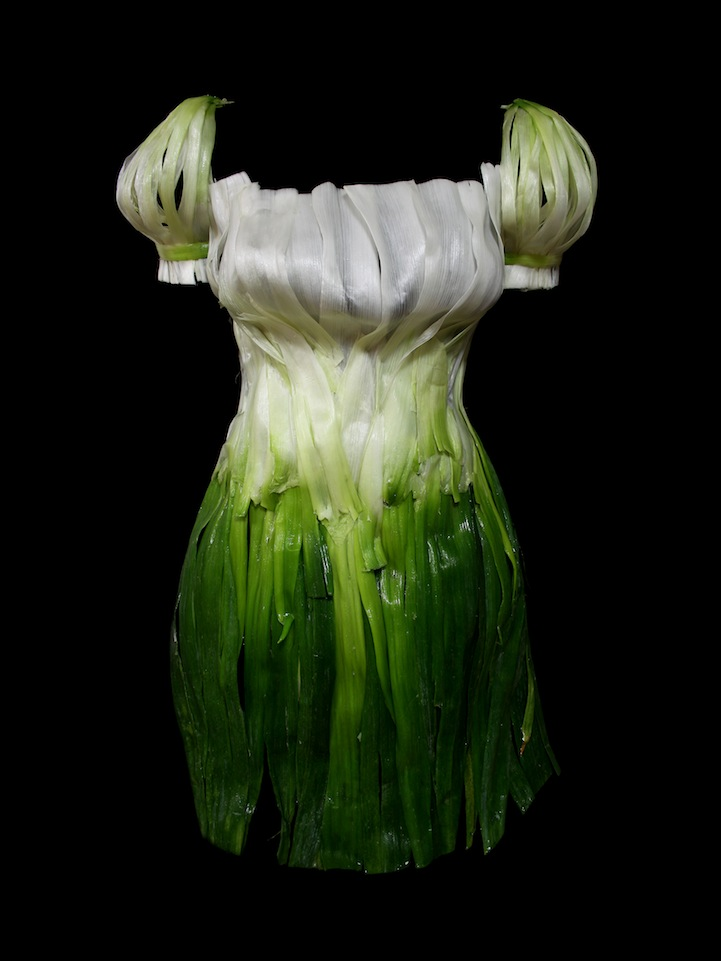 Wearable Foods By Korean Artist Yeonju Sung Spring Onion