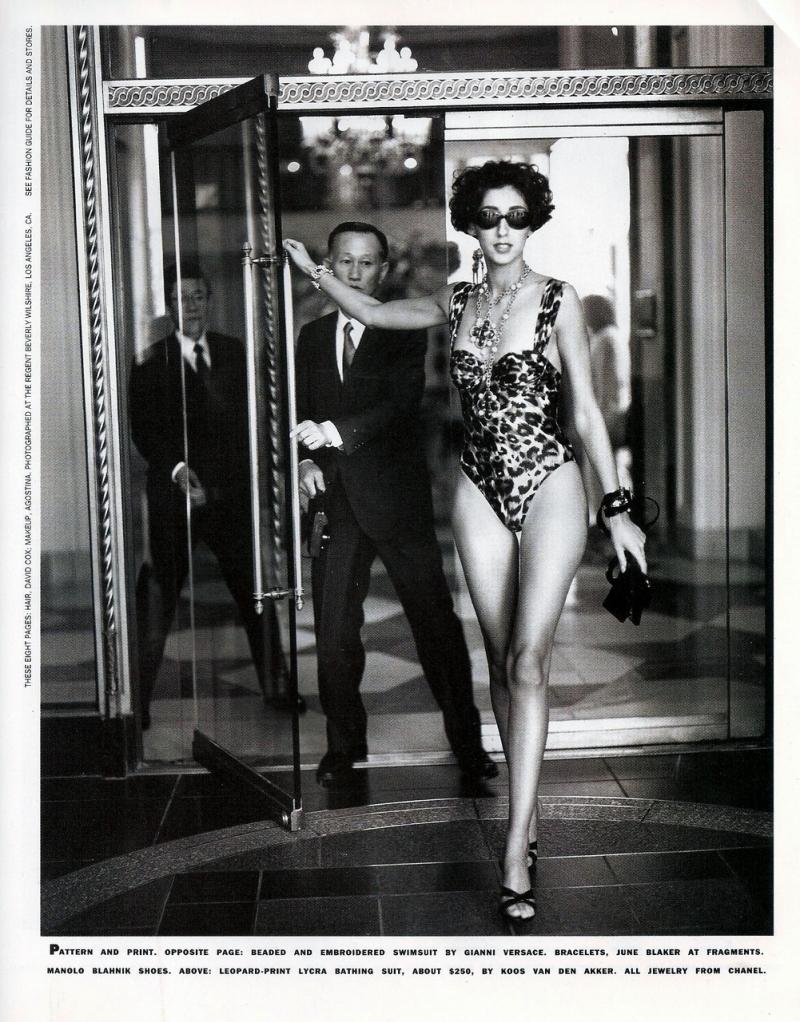 """"""" Swimwear Sparkle """" by Steven White for Harper's Bazaar June 1991"""