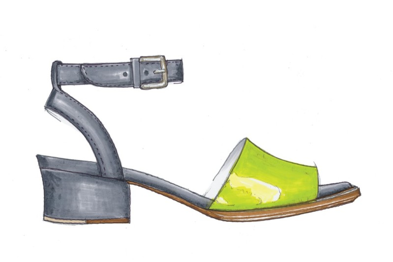 A sketch from the Cole Haan Resort 2014 collection. Photo by Courtesy of Cole Haan