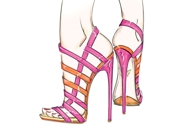 A sketch from the Diane von Furstenberg Resort 2014 collection. Photo by Courtesy of Diane von Furstenberg