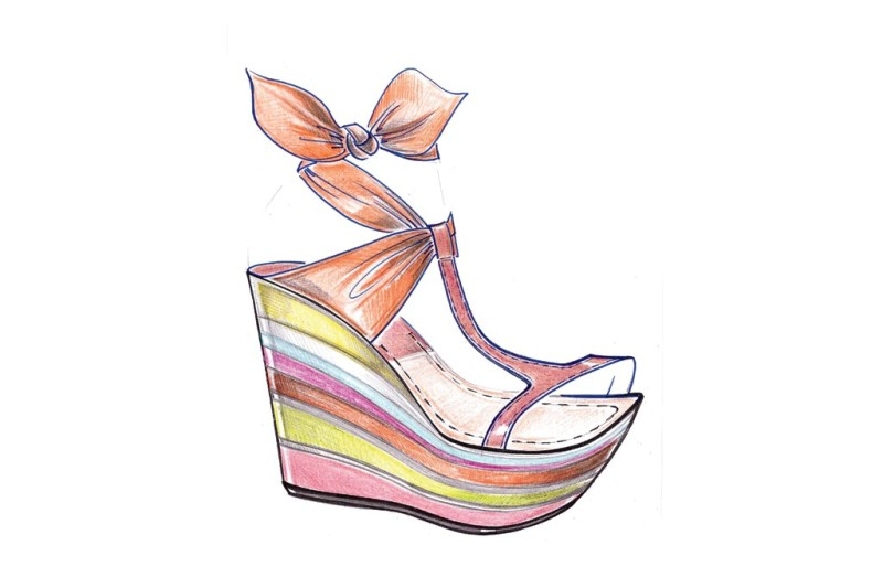 A sketch from the Goffredo Fantini Resort 2014 collection. Photo by Courtesy of Goffredo Fantini