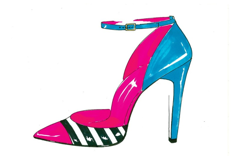 A sketch from the Kate Spade New York Resort 2014 collection. Photo by Courtesy of Kate Spade New York