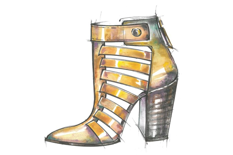 A sketch from the Kelsi Dagger Resort 2014 collection. Photo by Courtesy of brand
