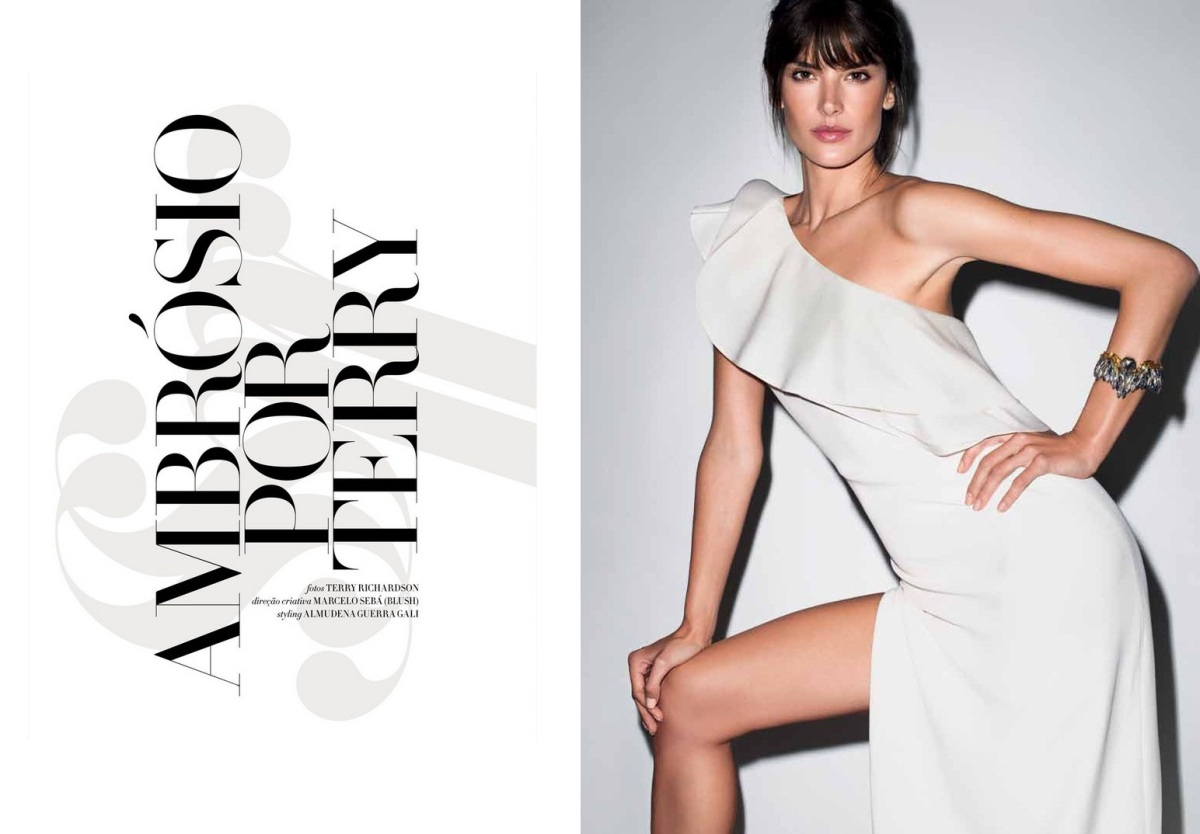 Alessandra Ambrosio by Terry Richardson for Harper's Bazaar Brazil June 2013