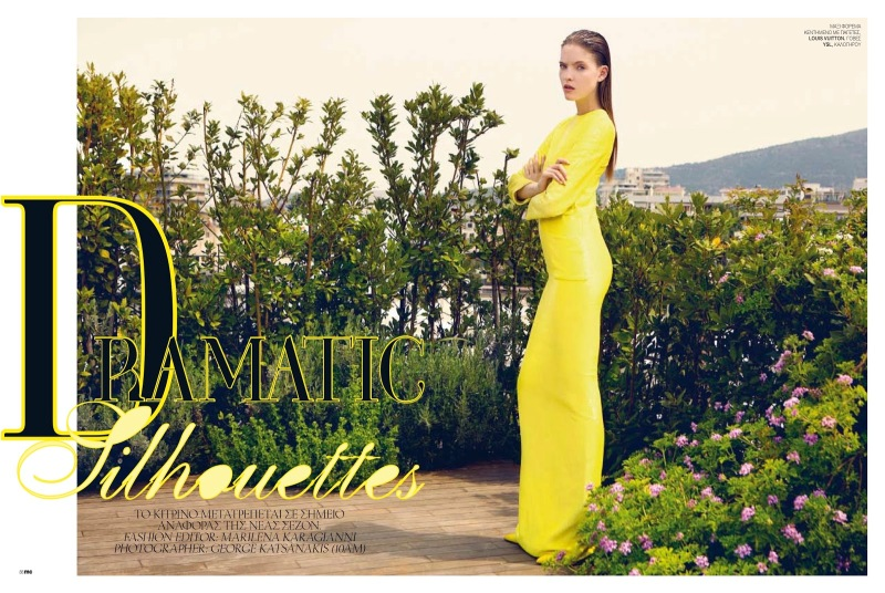 Anastasia Kolganova By George Katsanakis For Marie Claire Greece June 2013