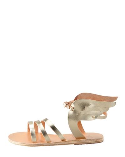 ANCIENT GREEK SANDALS Ikaria Winged Vachetta Flat Sandal