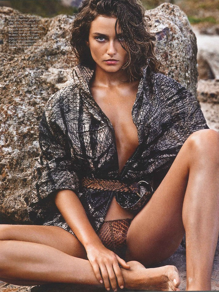 Andreea Diaconu by Mario Sorrenti for Vogue Paris June/July 2013