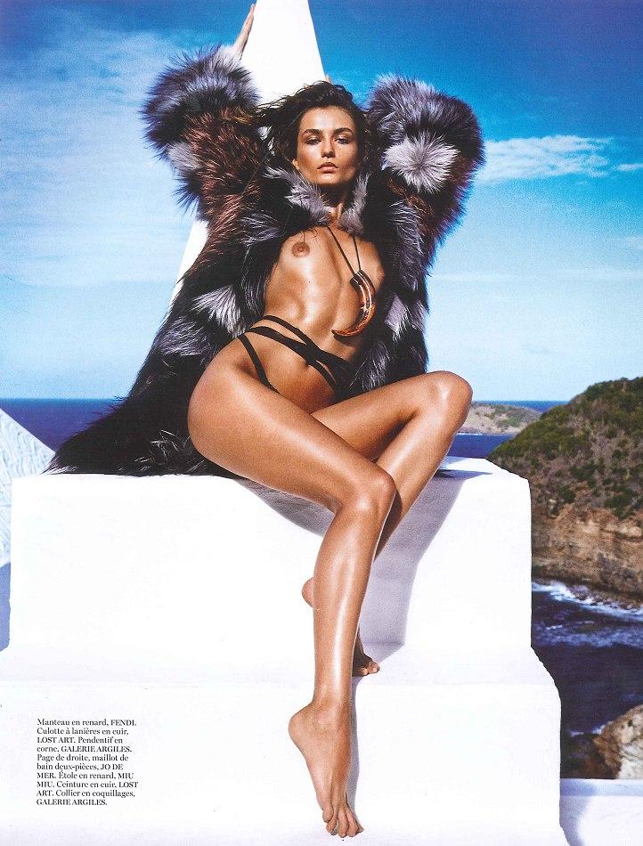 Andreea Diaconu by Mario Sorrenti for Vogue Paris June/July 2013