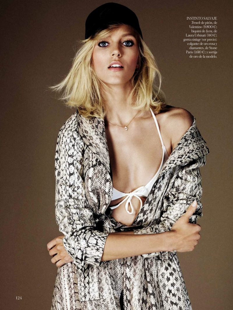 Anja Rubik by Giampaolo Sgura for Vogue Spain June 2013