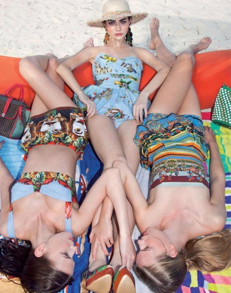 Antonina Vasylchenko, Victoria Tuaz And Valeriya Melnik By Charlie Engman For Jalouse June 2013