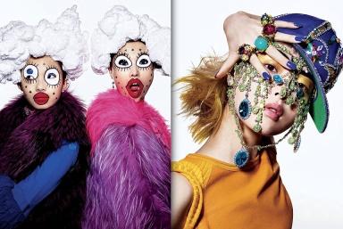 Beauty And The Bling by Richard Burbridge for V Magazine #83 summer 2013