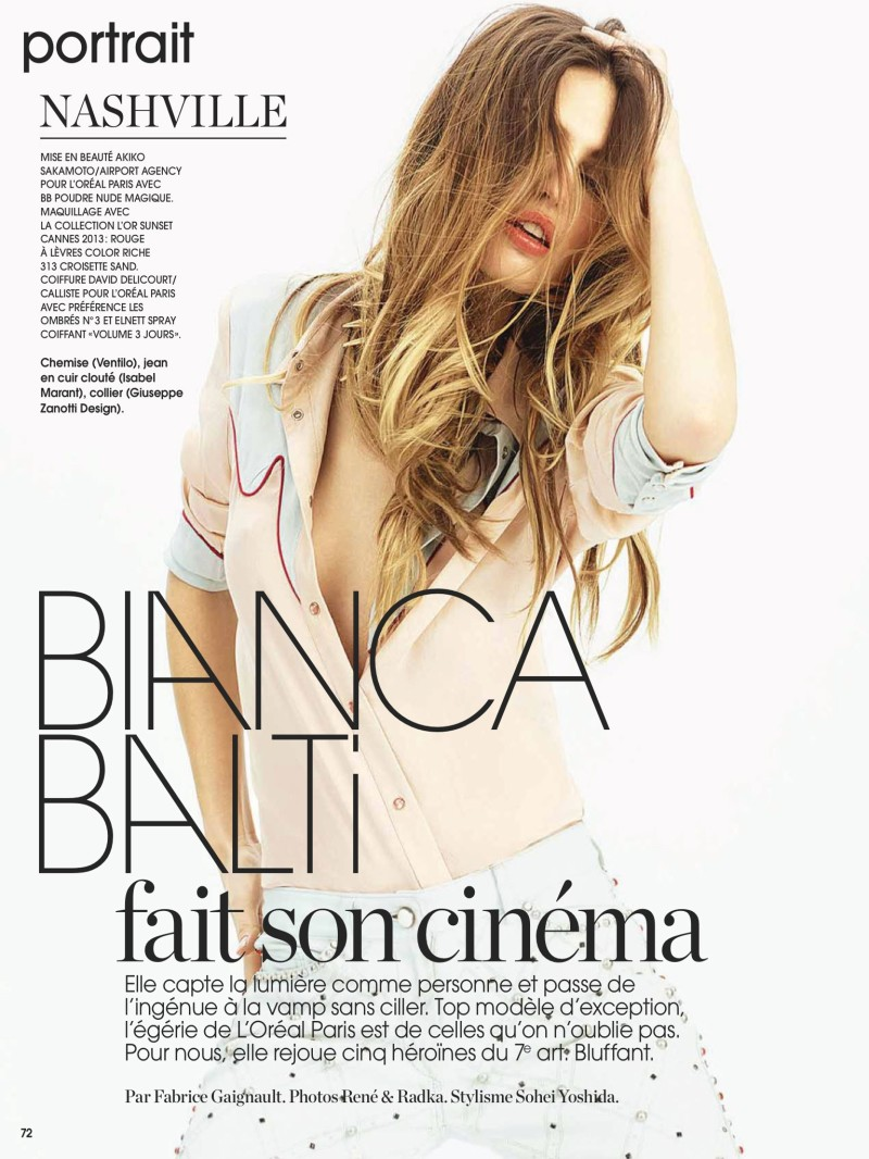 Bianca Balti by René & Radka for Marie Claire France June 2013