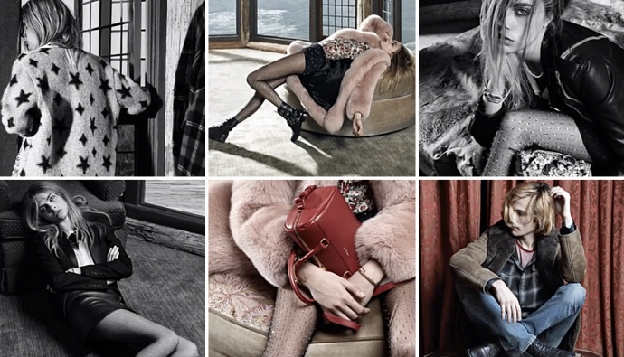 Cara Delevingne by Hedi Slimane for Saint Laurent F/W 2013-2014 Ad Campaign