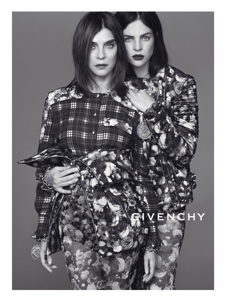 Carine Roitfeld and Julia Restoin Roitfeld by Mert & Marcus for Givenchy Fall 2013 Ad Campaign