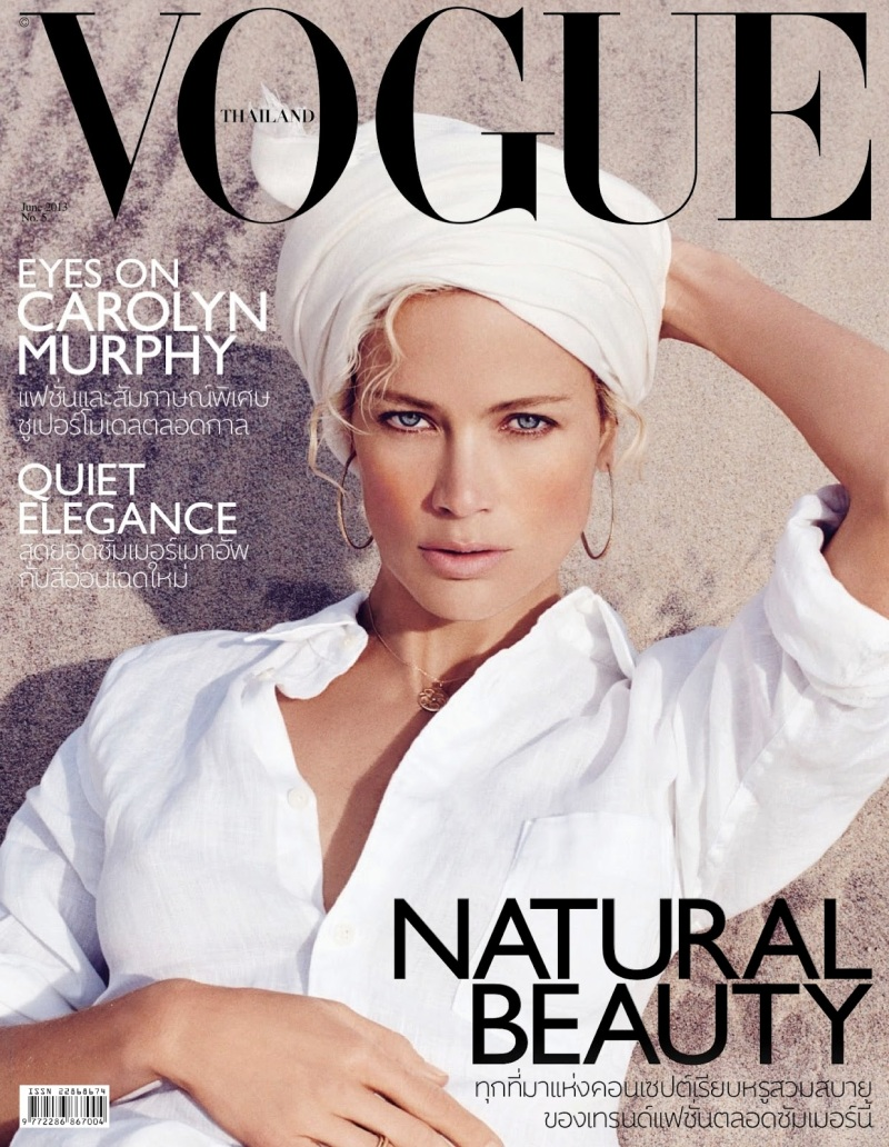 Carolyn Murphy By Lincoln Pilcher For Vogue Thailand June 2013