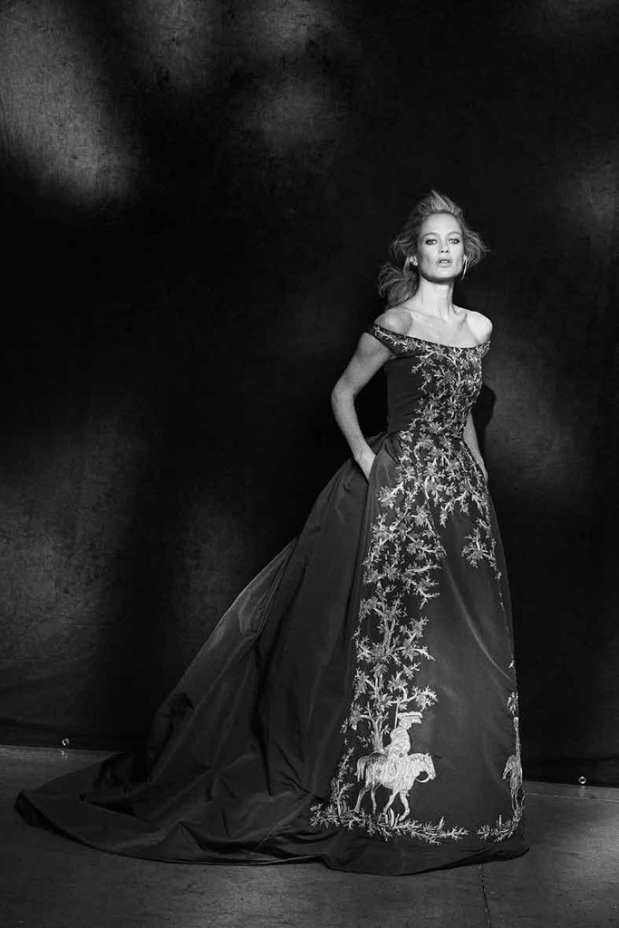 Carolyn Murphy in Oscar de la Renta. Photo by Peter Lindbergh