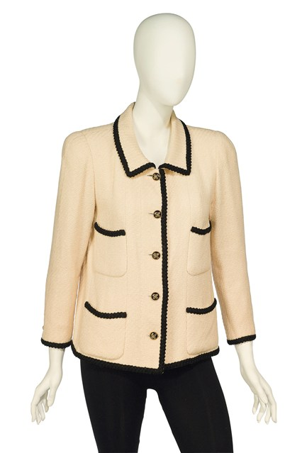 Suzy Menkes To Auction Her Wardrobe  Chanel wool jacket Estimate: £300 - £500