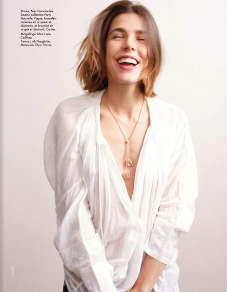 Charlotte Casiraghi By Cass Bird for Elle France
