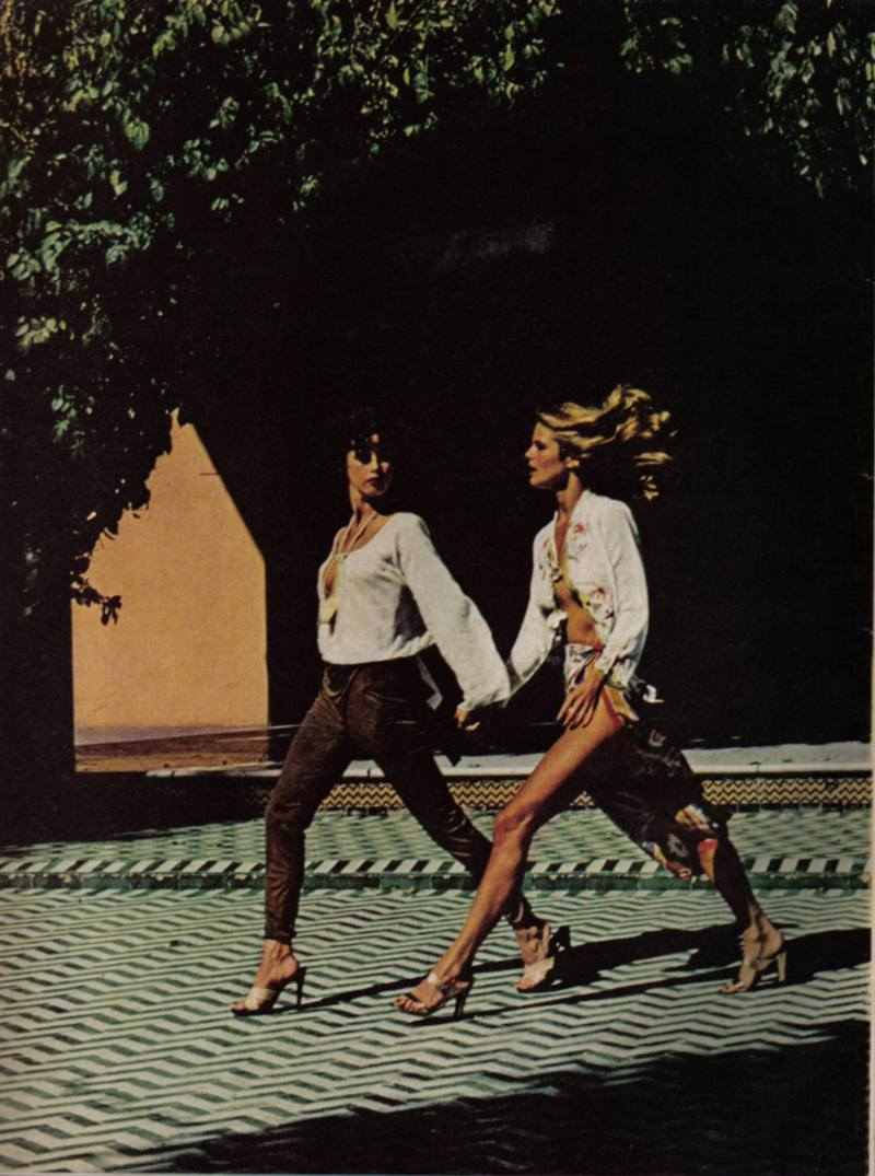 Christy Brinkley by Helmut Newton for Vogue US May 1977