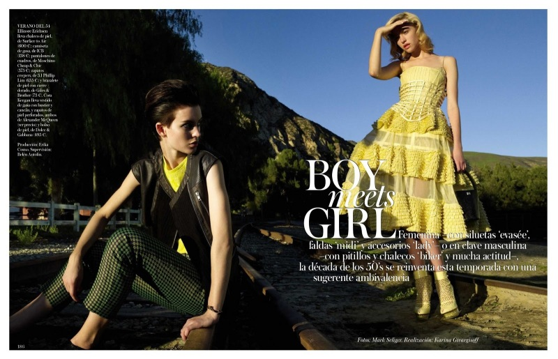 Cora Keegan & Ellinore Erichsen by Mark Seliger for Vogue Spain June 2013