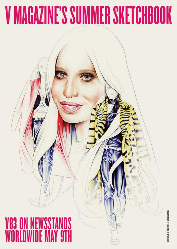 Donatella Versace by Ricardo Fumanal for V magazine summer 2013