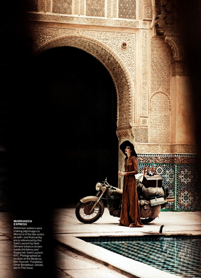 Edie Campbell by Peter Lindbergh for Vogue US June 2013