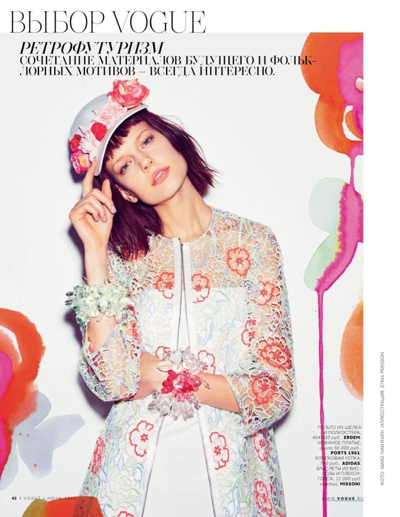 Elisabeth Erm by Ward Ivan Rafik for Vogue Russia June 2013