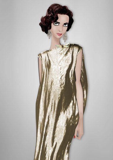 Elizabeth Taylor By Lula Rick Owens crinkled gold metallic tunic dress from the Spring/Summer 2013 collection
