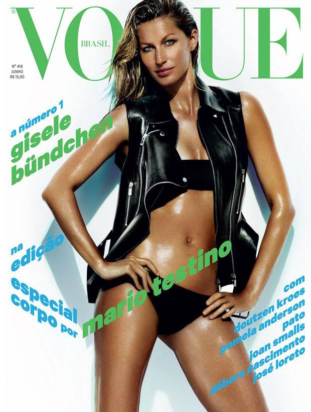 Gisele Bundchen by Mario Testino for Vogue Brazil June 2013