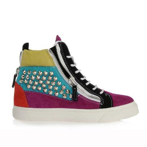 Giuseppe Zanotti Rainbow Studded Sneaker