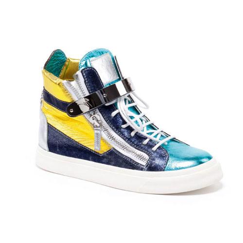 Giuseppe Zanotti Blue Metallic Sneaker