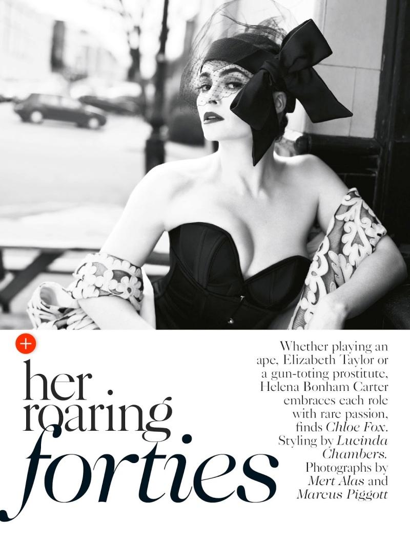 Helena Bonham Carter by Mert Alas & Marcus Piggott for Vogue UK July 2013
