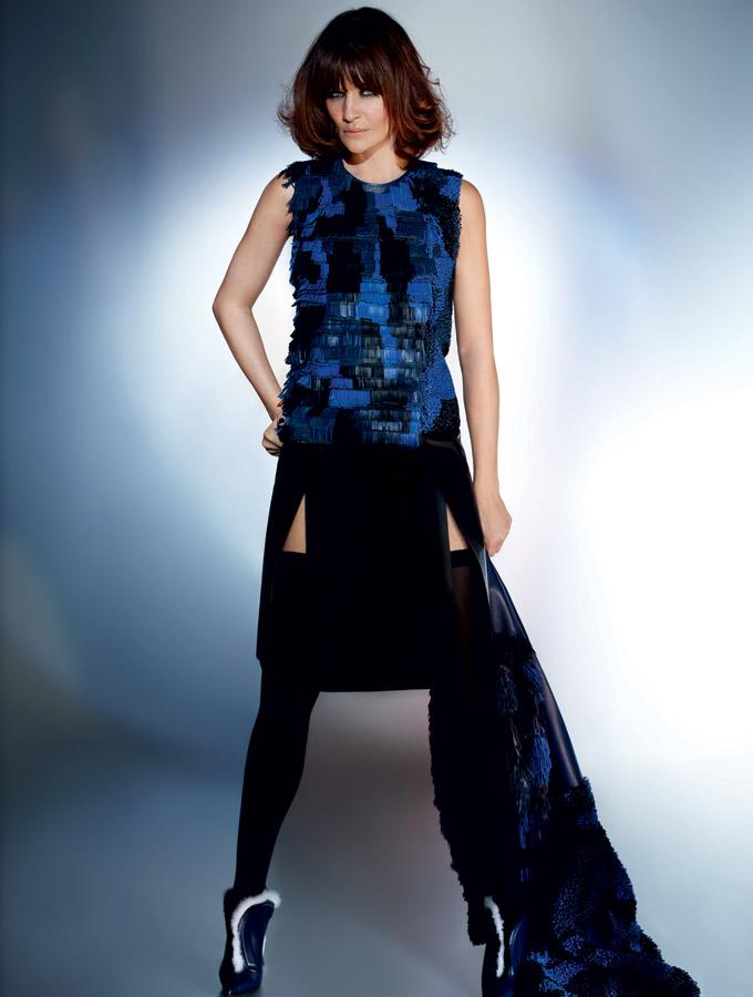 Helena Christensen by Karl Lagerfeld for Elle Brazil May 2013