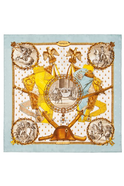 Suzy Menkes To Auction Her Wardrobe  Hermès silk scarf  Estimate- £300 - £500
