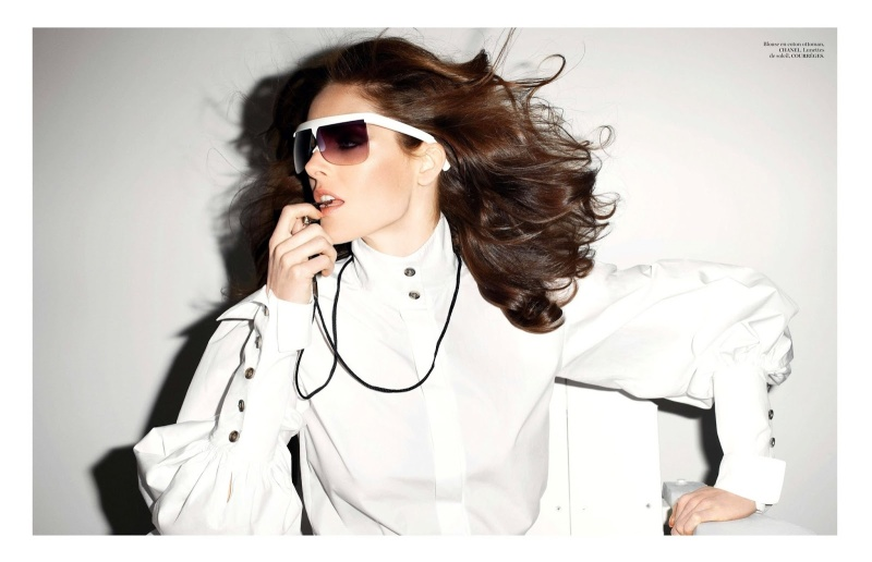 Hilary Rhoda by Terry Richardson for Vogue Paris June/July 2013