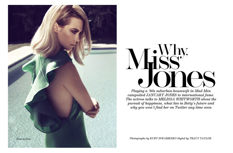 January Jones By Kurt Iswarienko For The Edit