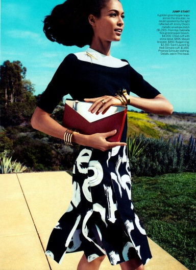 Joan Smalls by Camilla Akrans for Vogue June 2013