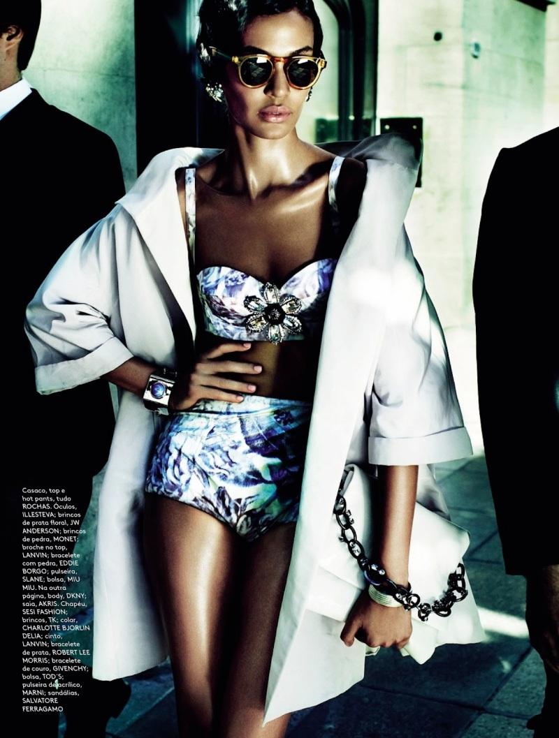 Joan Smalls By Mario Testino For Vogue Brazil June 2013