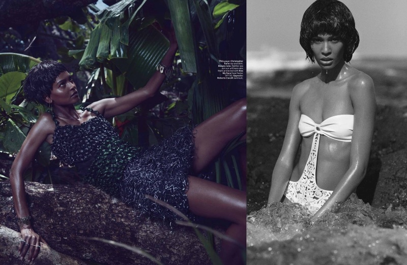 Joan Smalls & Liya Kebede by Mikael Jansson for W June/July 2013