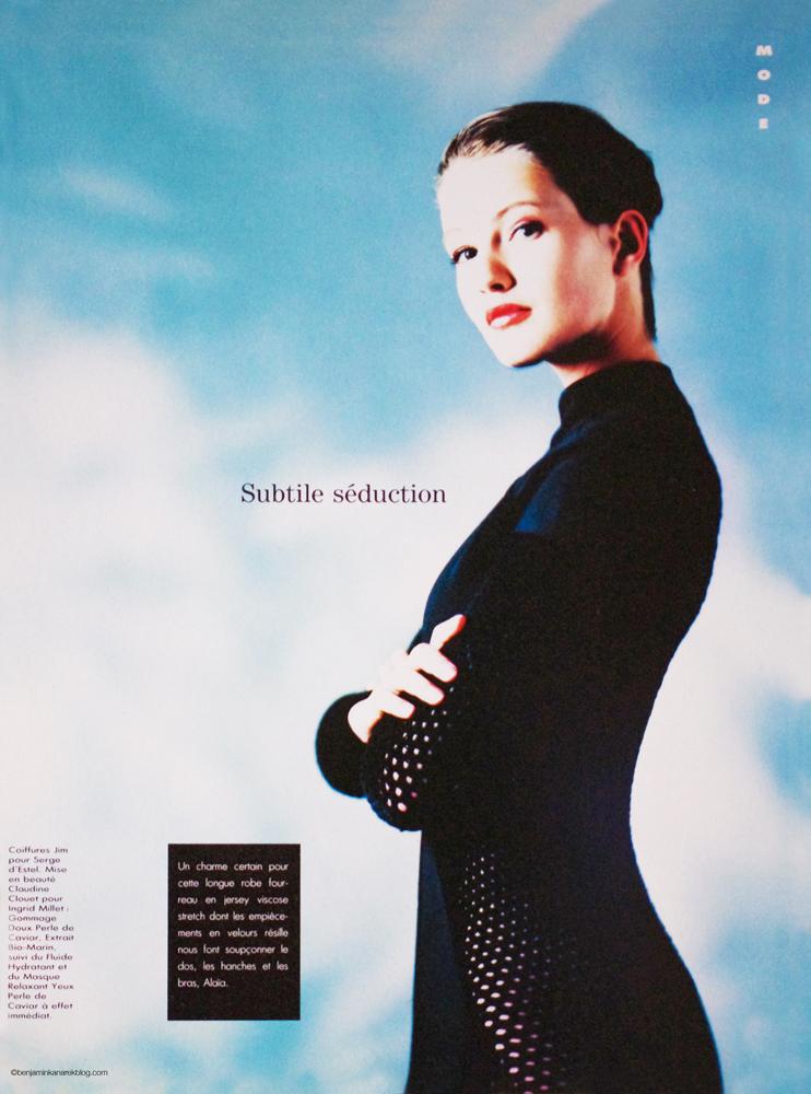 "Karen Mulder by Benjamin Kanarek for ""Votre Beauté"" Magazine 1990  © Benjamin Kanarek"