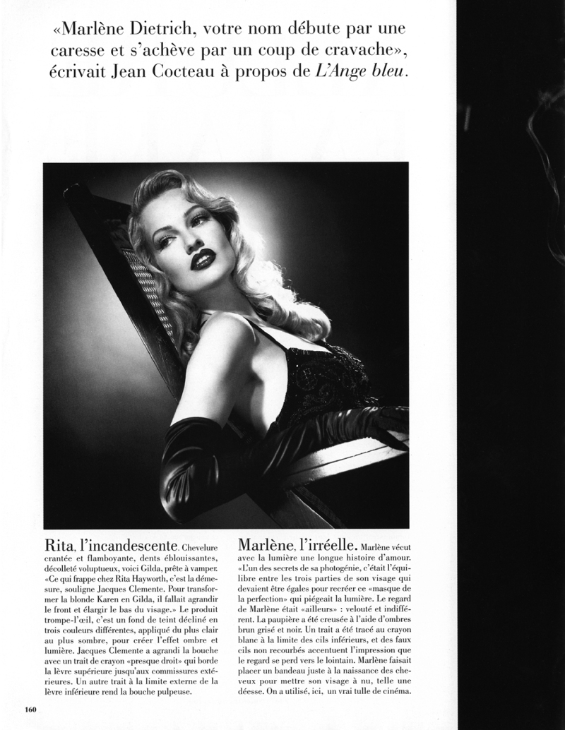 Karen Mulder by Michael Thompson for Vogue Paris December/January 1995