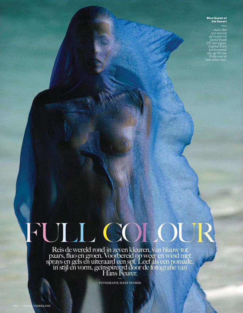 Karlie Kloss, Constance Jablonski, Karmen Pedaru by Hans Feurer for Vogue Netherlands June 2013