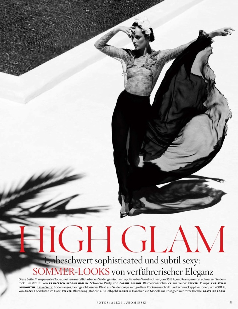 Karmen Pedaru By Alexi Lubomirski For Vogue Germany June 2013