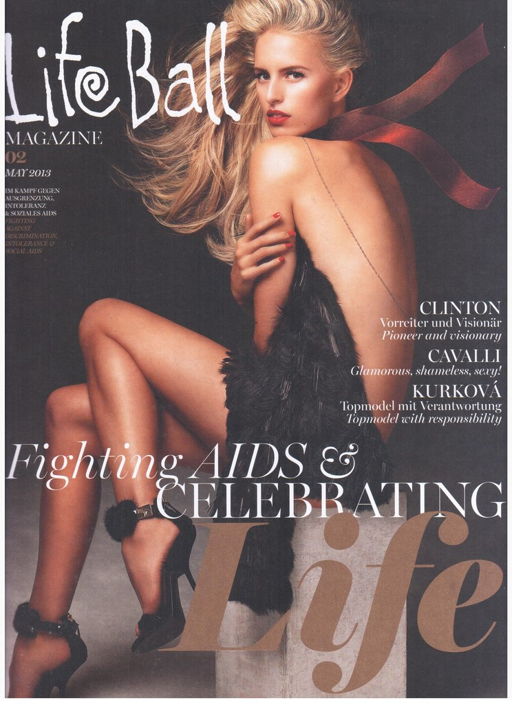 Karolina Kurkova By Robert Ascroft For Life Ball Austria May 2013