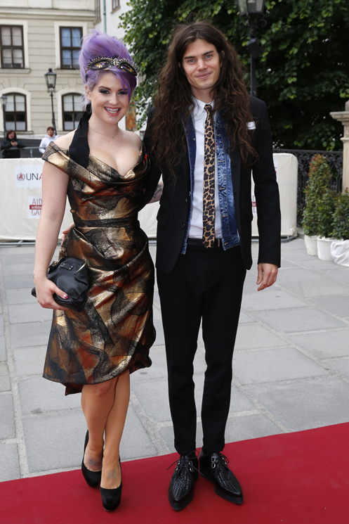 VIENNA, AUSTRIA - MAY 25:  Kelly Osbourne and Matthew Mosshart attend the 'AIDS Solidarity Gala 2013' at Hofburg Vienna on May 25, 2013 in Vienna, Austria.  (Photo by Thomas Niedermueller/Life Ball 2013/Getty Images)